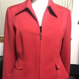 Talbots Women's Quilted Zip Blazer Jacket Size 14